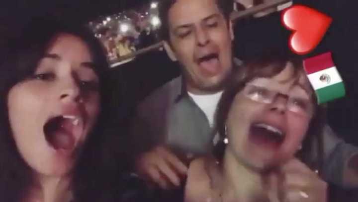 Camila Cabello en un recital de Luis Miguel
