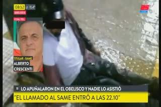 Alberto Crescenti, titular del SAME, sobre el hombre atacado y asalto en el Obelisco