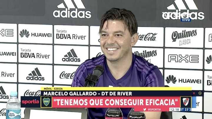 """Marcelo Gallardo: """"Me haces una pregunta y te vas"""""""
