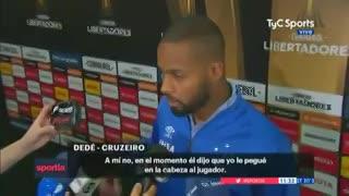 Dedé, el jugador de Cruzeiro mal expulsado por el choque con Andrada