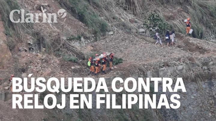 Tifón Mangkhut: desesperada búsqueda de desaparecidos en Filipinas