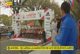 El momento de la largada de la Maratón de Buenos Aires