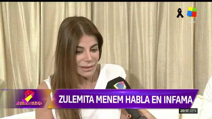 Zulemita Menem tras la operación de su hermano Máximo
