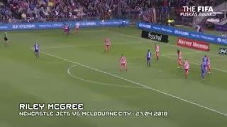 El gol de Riley McGree, finalista para el Premio Puskas