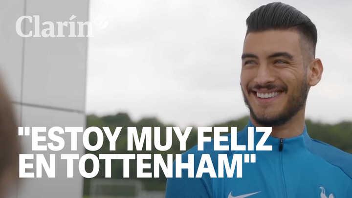 """""""Estoy muy feliz en Tottenham, muy emocionado"""", aseguró Gazzaniga en su presentación en Tottenham"""