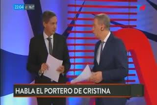 """El portero de Cristina: """"Entre 2007 y 2010 venía con personas y vi movimientos de bolsos y valijas con frecuencia semanal"""""""