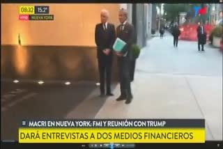 Mauricio Macri inicia su día en Nueva York