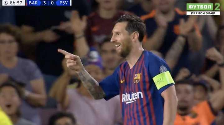 Triplete de Lionel Messi para darle la victoria al Barcelona