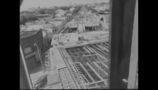 Construcción del puente de la avenida Juan B. Justo