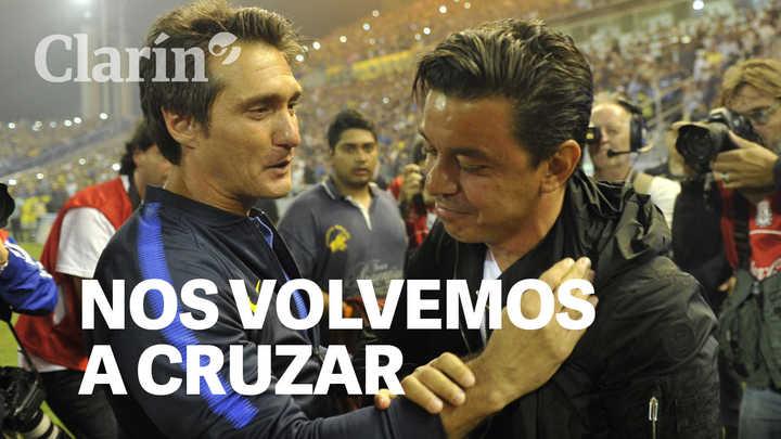 Guillermo y Gallardo: los choques entre dos ídolos, en la cancha y desde el banco