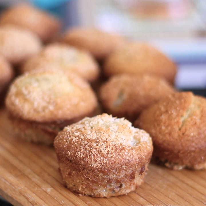 Muffins con coco y banana