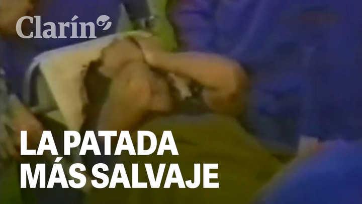 A 35 años de la patada salvaje que le rompió el tobillo a Diego Maradona