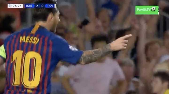 Lionel Messi marcó doblete para estirar la ventaja