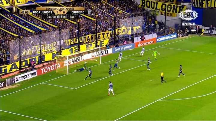 La descomunal salvada de Wilmar Barrios para evitar el empate de Cruzeiro