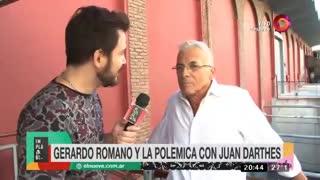 Repudiables declaraciones de Gerardo Romano sobre el caso Darthés