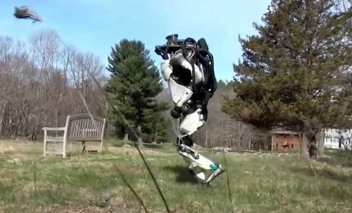 El día que el robot Atlas salió a correr por el parque