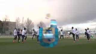 El entrenamiento de la Selección en el complejo de Real Madrid.