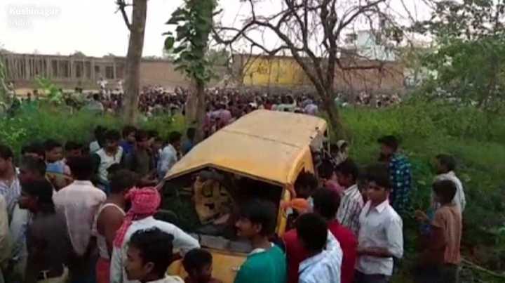 Tragedia en la India con un bus escolar