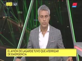 El avión que llevaba a Lagarde aterrizó de emergencia en Ezeiza
