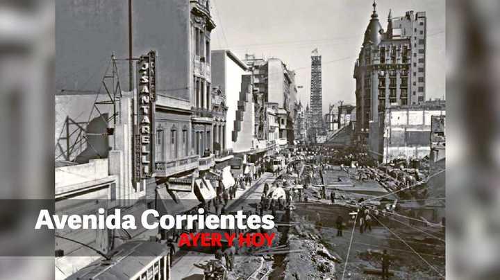 Así cambió la avenida Corrientes a lo largo del tiempo