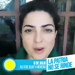 Otra marcha de actores K contra el FMI