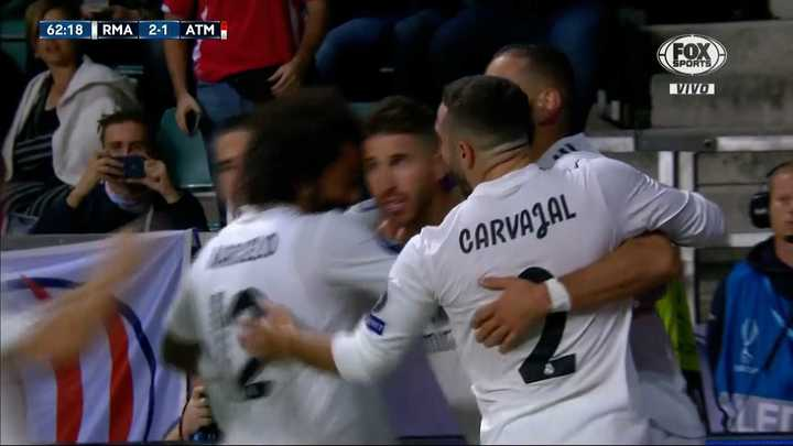 Sergio Ramos convirtió de penal para dar vuelta el partido