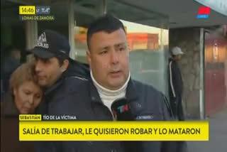 Habló el tío del chico asesinado en Lomas de Zamaro