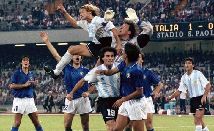 Argentina contra Italia en el Mundial '90