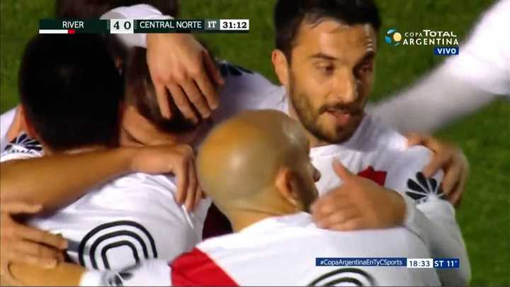 River Plate 4 - Central Norte 0. Martínez Quarta suma su gol en el partido- Copa Argentina 2018
