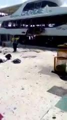Explosión en un ferry con turistas en Playa del Carmen