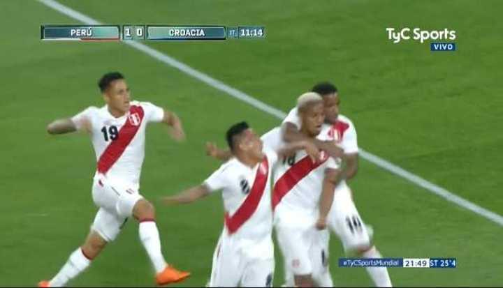 Perú 1 - Croacia 0