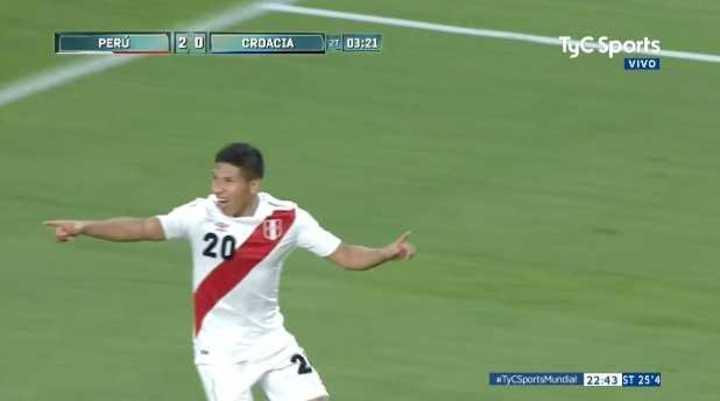 Perú 2 - Croacia 0