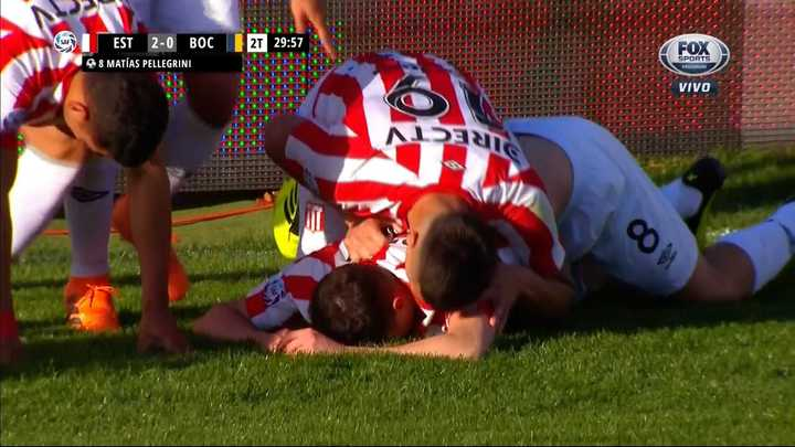 Estudiantes marcó el segundo con gol de Matías Pellegrini