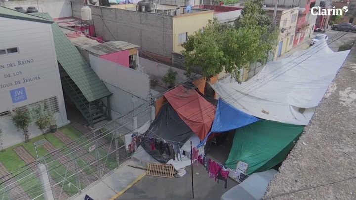 A seis meses del sismo muchos habitantes de la ciudad de México aun viven en la calle
