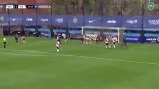 Así fue el gol de Heredia que le dio la victoria a Boca en Reserva