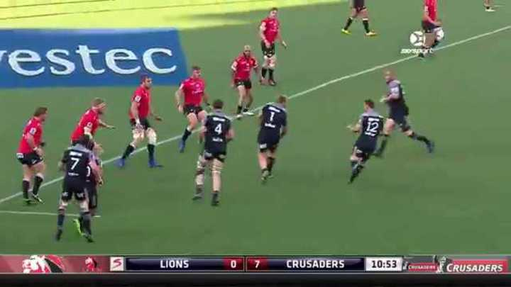 La final del Super Rugby 2017 entre Crusaders y Lions.