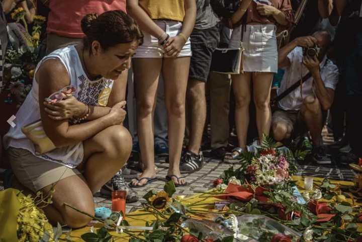 Atentado en Barcelona. Homenajes a un año del ataque