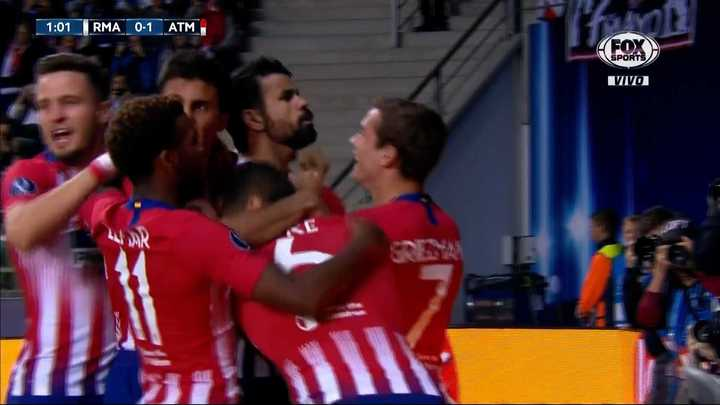 Golazo de Costa para poner en ventaja al Atlético de Madrid