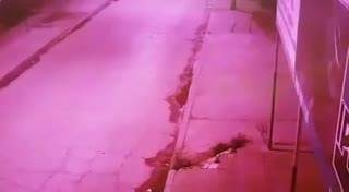 Las cámaras de seguridad de la cuadra donde mataron al pizzero
