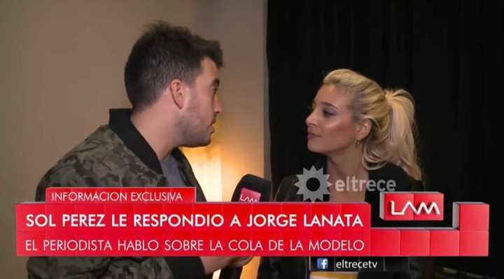 Sol Pérez arremetió contra Jorge Lanata
