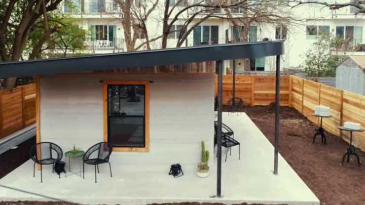 Así construyen viviendas con una impresora 3D