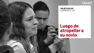 El desesperado llamado al 911 de Julieta Silva tras atropellar a su novio