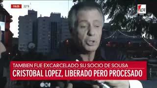 """""""No me quedé con nada"""", dijo Cristóbal López al ser consultado sobre la evasión impositiva"""