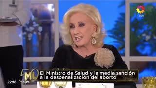 Vicky Xipolitakis, en el programa de Mirtha Legrand
