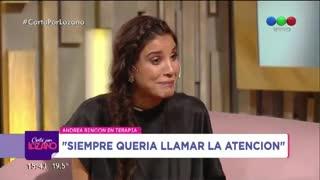 Andrea Rincón habló de su lucha contra la adicción a las drogas.