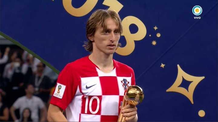 Modric fue elegido mejor jugador del Mundial - Mundial Rusia 2018
