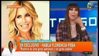"""Florencia Peña habló de su pareja en """"Intrusos"""". Parte 2"""