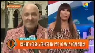 Ronnie Arias se despachó con todo contra Ernestina Pais.