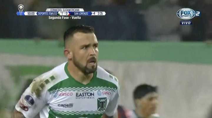 Matías Donoso marcó el gol de Temuco en una de las últimas jugadas