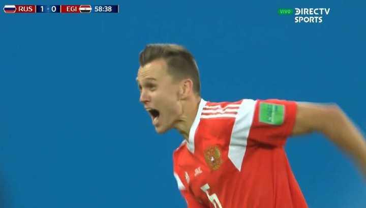 Rusia 2 - Egipto 0. Cheryshev marcó el 2 a 0 de Rusia - Mundial Rusia 2018